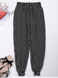 Elastic Waist Striped Jogger Pants