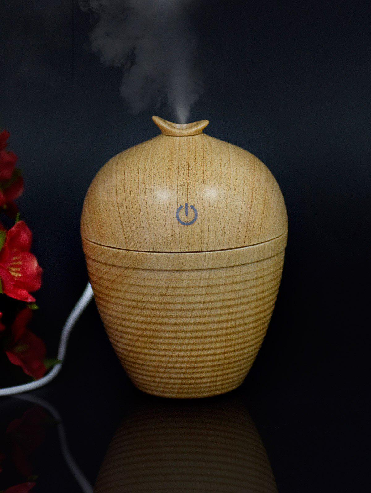 Ultrasonic Aroma Woodgrain Mist Maker Air HumidifierHOME<br><br>Color: EARTHY; Water Capacity: 130ML; Service Time : 3H;