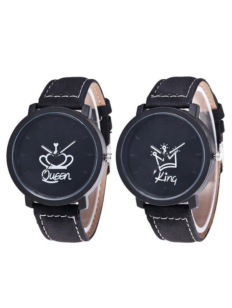 Best King Queen Crown Analog Couple Watches