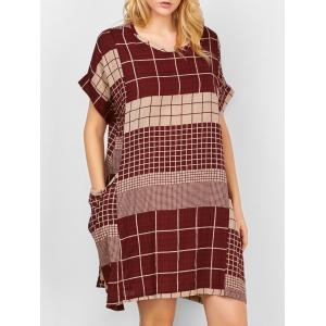 Checked Pocket Swing Dress