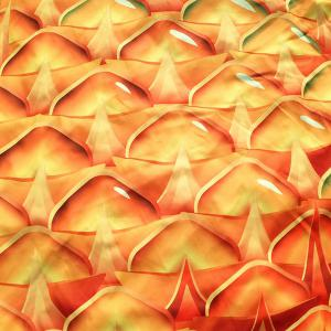 Ananas Shape Polyster Plage Throw - Orange