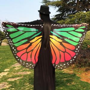 Butterfly Wing Chiffon Pashmina Scarf Cape with Straps