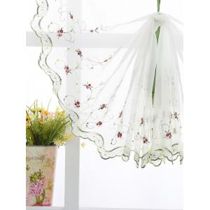 Roman Style Rose Embroidery Tull Rideau Pour Chambre -