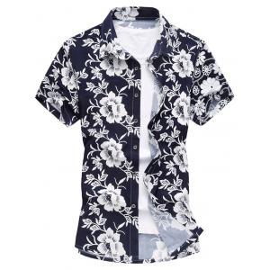 Short Sleeve Floral Casual Hawaiian Shirt