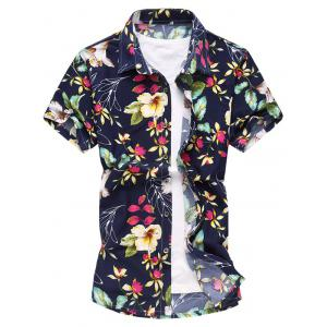 Flower Print Short Sleeve Shirt