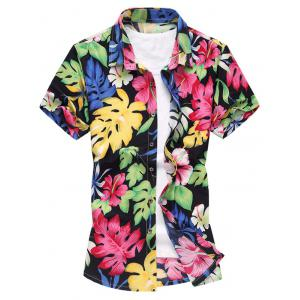 Colorful Printed Short Sleeve Shirt