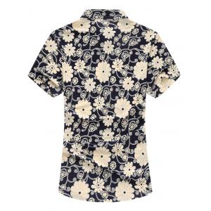 Floral manches courtes Casual Shirt -