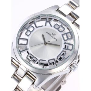 BRG STOCK Alloy Strap Hollow Out Analog Watch -