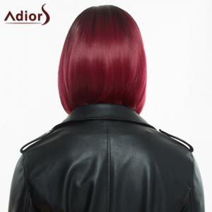Adiors Short Middle Parting Colormix Straight Synthetic Wig - COLORMIX