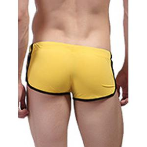 Low Waist Trimmed Swimming Trunks -