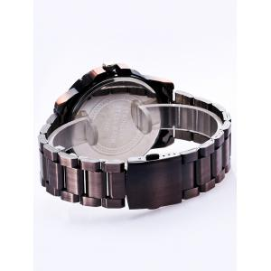 SOUSOU Metallic Number Analog Quartz Watch - ROSE GOLD