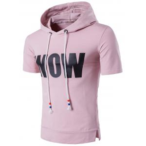 Side Slit Graphic Hooded Tee