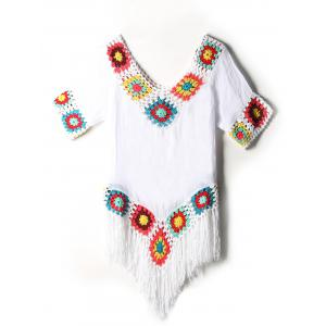 Flower Crochet Fringe Cover-Up