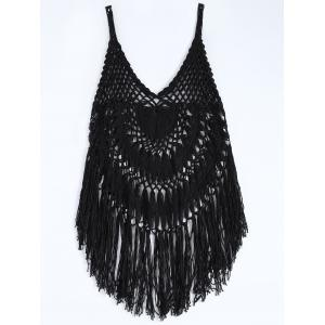Spaghetti Strap Crochet Swimwear Cover-Up