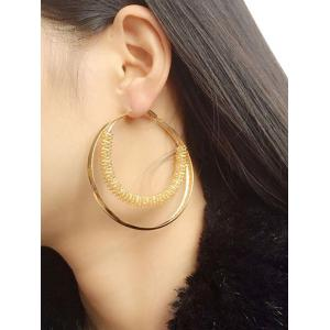 Stretch Circle Hoop Earrings - Golden