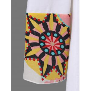Plus Size Graphic Design High Low Hem T-Shirt - WHITE 2XL