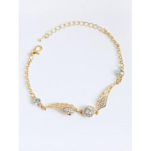 Wings Shape Faux Diamond Chain Bracelet