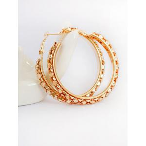 Sequins Big Hoop Earrings - Golden