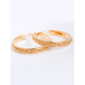 Chunky Circle Earrings - Golden