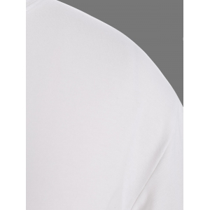 Plus Size Night Graphic T-Shirt - WHITE 5XL