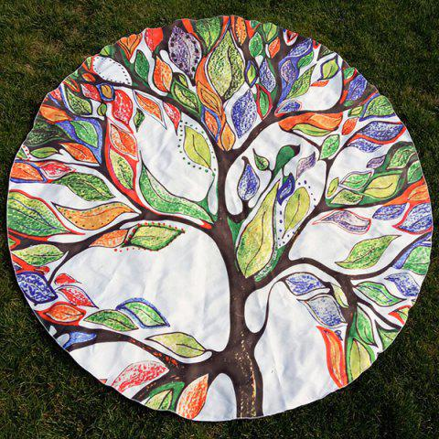 New Colorful Life Tree Round Beach Throw