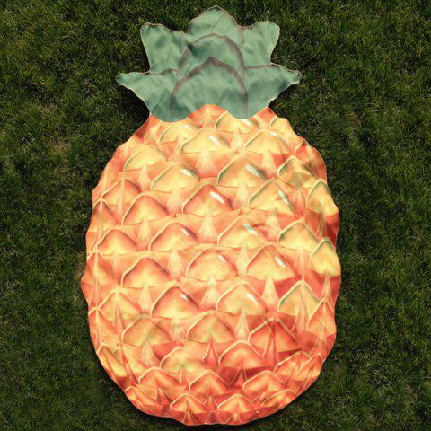 Ananas Shape Polyster Plage Throw Orange