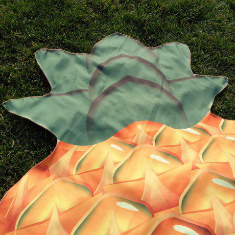 Shops Pineapple Shape Polyster Beach Throw - ORANGE  Mobile