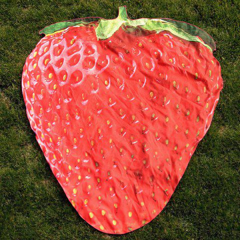 Shops Strawberry Shape Polyster Beach Throw Cover RED ONE SIZE