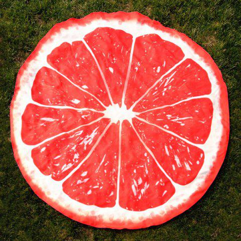 Online Lemon Slice Shape Polyster Round Beach Throw RED ONE SIZE