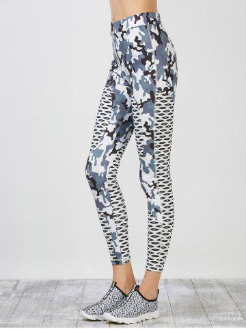 Camouflage Pattern Running Leggings - Colormix - M