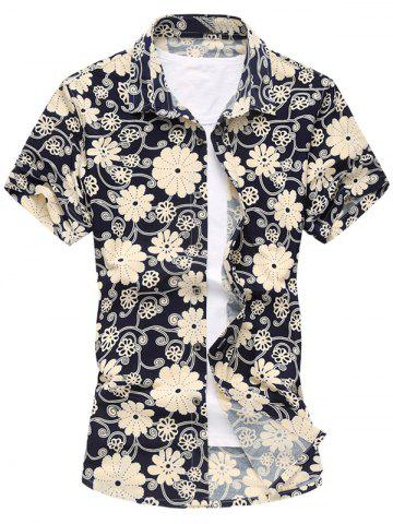 Floral manches courtes Casual Shirt