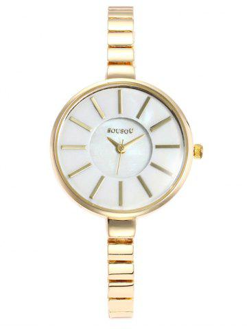Cheap SOUSOU Alloy Strap Analog Wrist Watch
