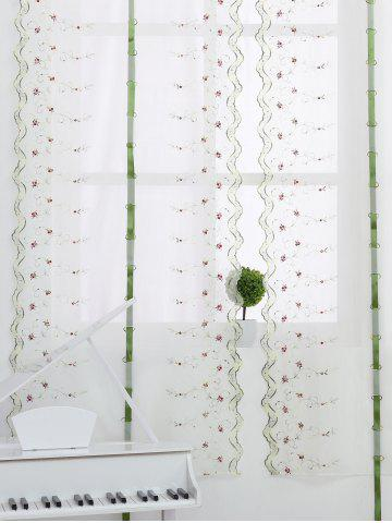 Buy Roman Style Rose Embroidery Tull Curtain For Bedroom - 80*100CM WHITE Mobile