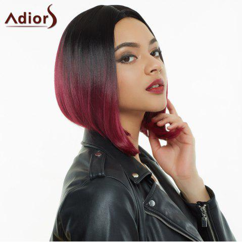 Affordable Adiors Short Middle Parting Colormix Straight Synthetic Wig COLORMIX