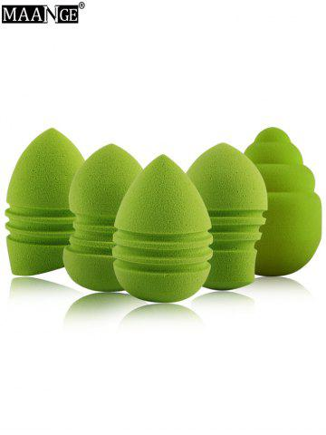Trendy 5 Pcs Multipurpose Water Swellable Makeup Sponges - GREEN  Mobile