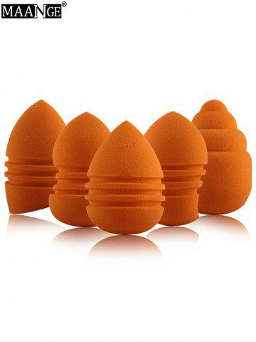 5 Pcs Multipurpose Water Swellable Makeup Sponges - Jacinth