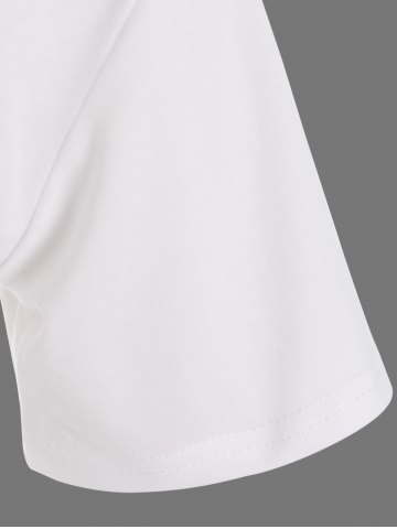 Hot Plus Size Night Graphic T-Shirt - 4XL WHITE Mobile