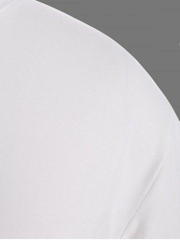 Buy Plus Size Night Graphic T-Shirt - 4XL WHITE Mobile