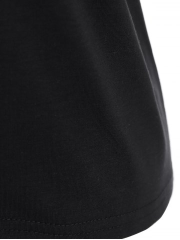 Affordable Plus Size Night Graphic T-Shirt - 2XL BLACK Mobile