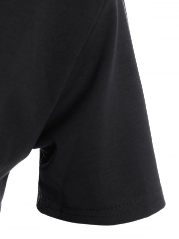 Affordable Plus Size Night Graphic T-Shirt - 3XL BLACK Mobile