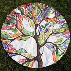 Colorful Life Tree Round Beach Throw -