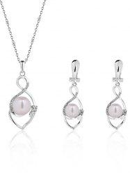 Faux Pearl Infinity Alloy Jewelry Set