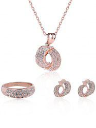 Rhinestoned Plated Jewelry Set