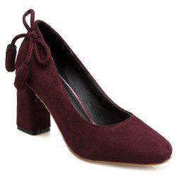 Block Heel Tassels Pumps