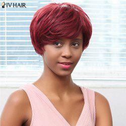 Siv Hair Capless Short Side Bang Human Hair Wig