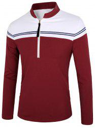 Long Sleeve Half Zip Polo Shirt