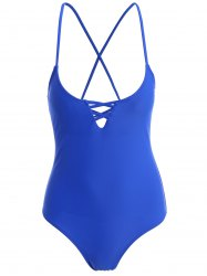 Criss Cross Straps One Piece Swimwear