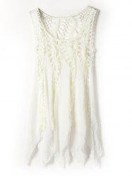 Crochet Cover Up Dress - OFF-WHITE