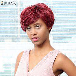 Siv Hair Short Capless Side Bang Human Hair Wig