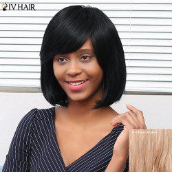 Siv Hair Medium Straight Side Bang Human Hair Wig